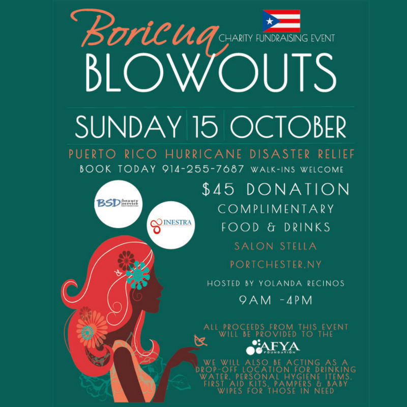 Boricua Blowouts Charity Event Flyer -Social Media