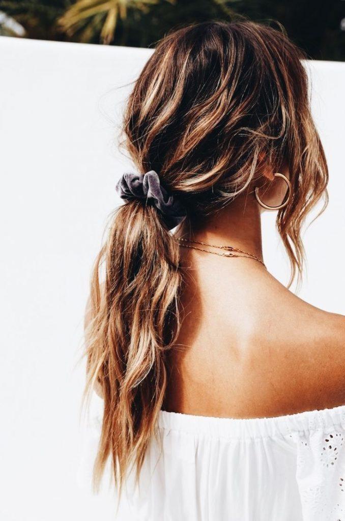 gym hair ponytail